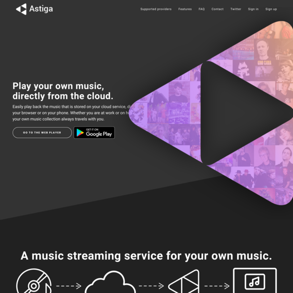 Astiga - Your online cloud music player