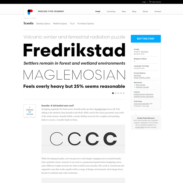 Scandia Font Family | Process Type Foundry