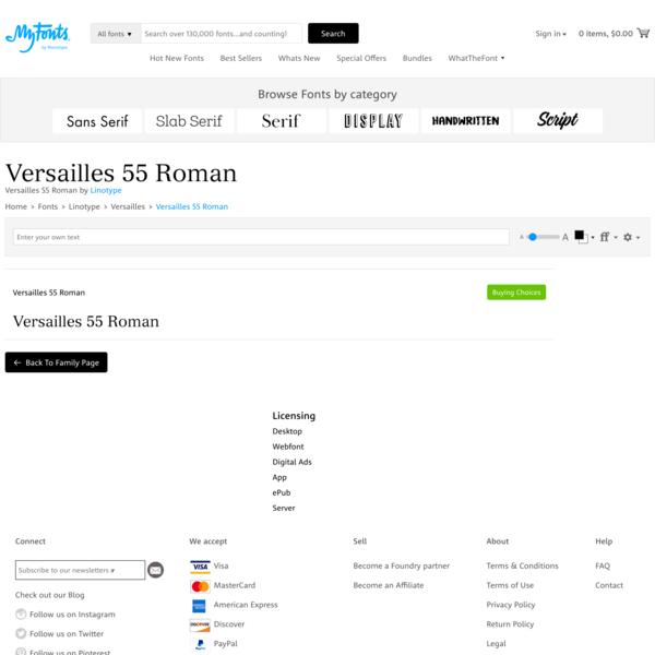 Versailles 55 Roman | Webfont & Desktop font | MyFonts