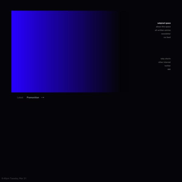 Subpixel Space