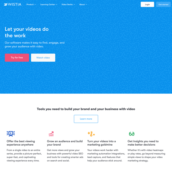 Wistia - Brand Affinity Marketing Software That Helps You Grow Your Brand with Video