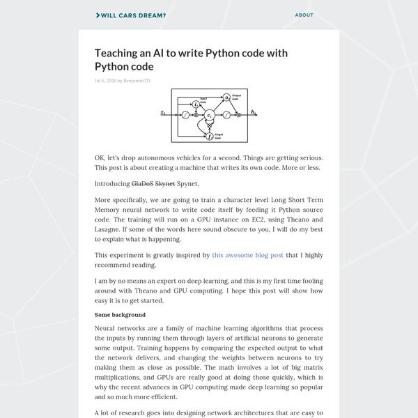 Teaching an AI to write Python code with Python code