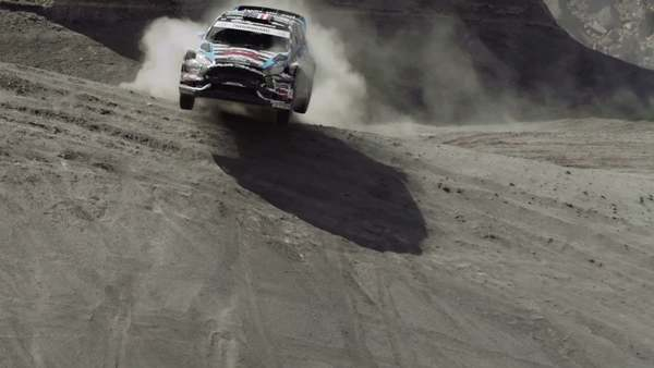 The American photographer artfully captures Hoonigan Racing Division rally car driver Ken Block-the co-founder of DC Shoes-tearing through the Utah desert. Read the feature on NOWNESS - http://bit.ly/1SGPNSy