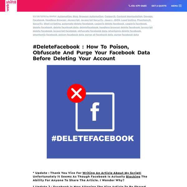 How to poison, obfuscate and purge your facebook data before deleting your account