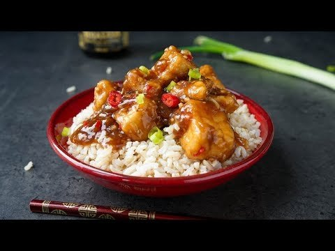 CRISPY SPICY TOFU! With a thick, sticky sauce