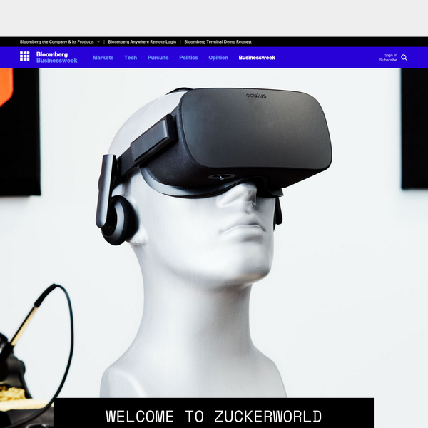 Welcome to Zuckerworld: Facebook's really big plans for virtual reality