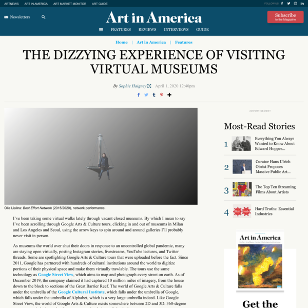 The Dizzying Experience of Visiting Virtual Museums