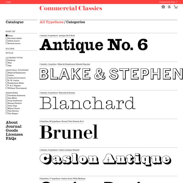 Commercial Classics » Catalogue