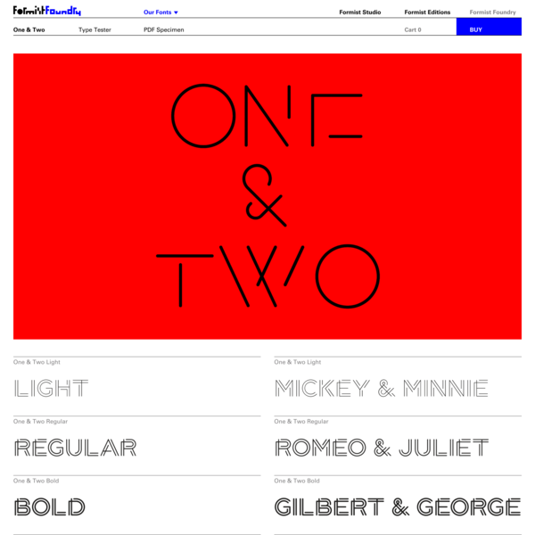 One & Two – Formist Foundry