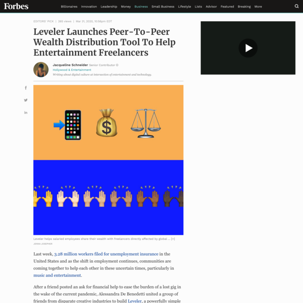 Leveler Launches Peer-To-Peer Wealth Distribution Tool To Help Entertainment Freelancers