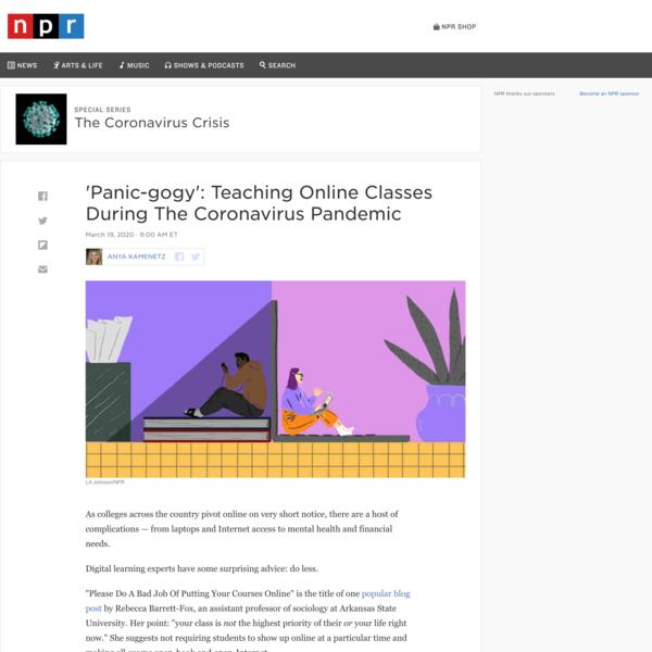 'Panic-gogy': Teaching Online Classes During The Coronavirus Pandemic