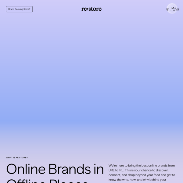 Re:store - Bringing best online brands from URL to IRL