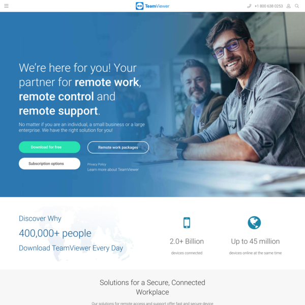 TeamViewer – Remote Support, Remote Access, Service Desk, Online Collaboration and Meetings