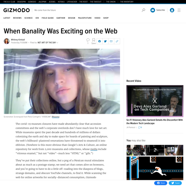 When Banality Was Exciting on the Web