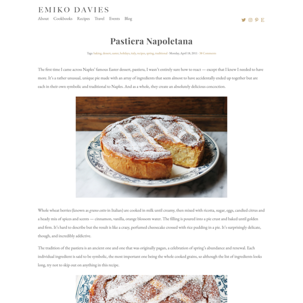 Pastiera Napoletana | Emiko Davies