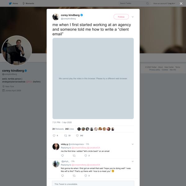 corey kindberg on Twitter