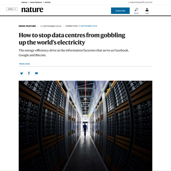 How to stop data centres from gobbling up the world's electricity