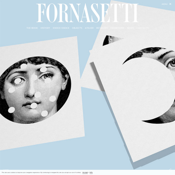 Fornasetti celebrates its icon by dedicating her an artist's book, TEMA E VARIAZIONI The First Series 1100. For the occasion fornasetti.com unveils a new interactive homepage where the sheets of paper fly through graceful evolutions in surreal spaces.