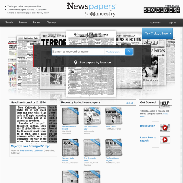 Newspapers.com - Historical Newspapers from 1700s-2000s