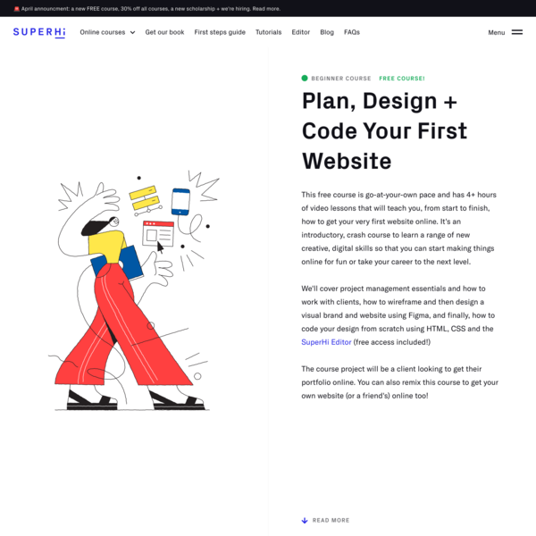 Plan, Design + Code Your First Website