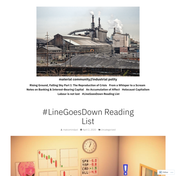 #LineGoesDown Reading List