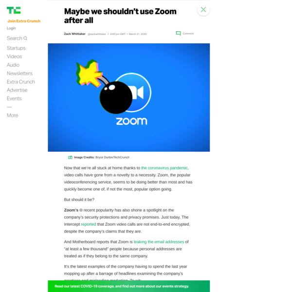Maybe we shouldn't use Zoom after all – TechCrunch