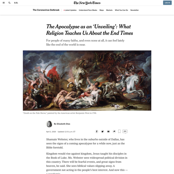 The Apocalypse as an 'Unveiling': What Religion Teaches Us About the End Times