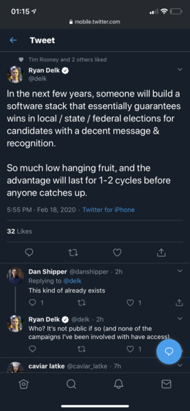 imagine de-risking all lobbying/policy/electoral politics?? how? ML+OP?