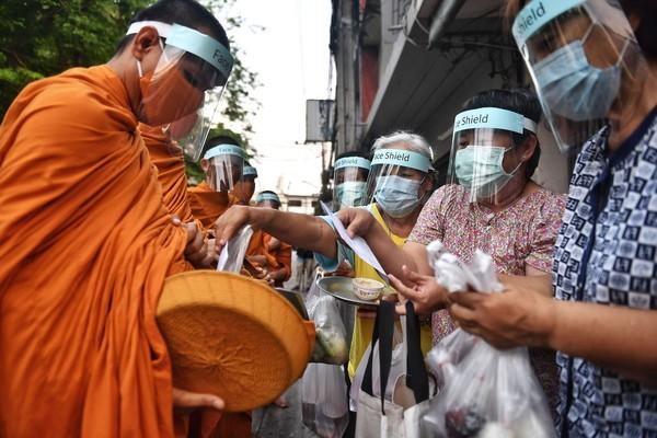 Masked monks