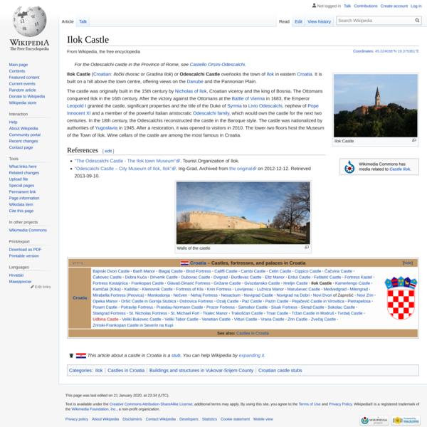 Ilok Castle - Wikipedia