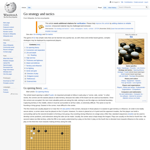 Go strategy and tactics - Wikipedia