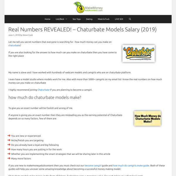 Real Numbers REVEALED! - Chaturbate Models Salary (2019)