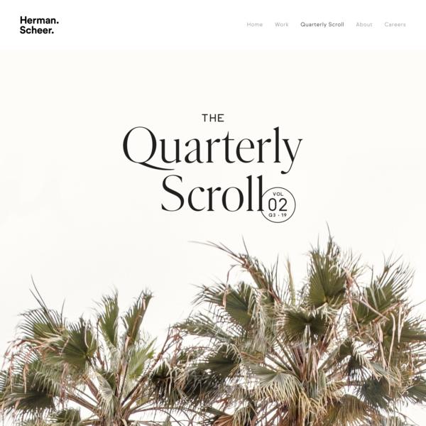 Herman-Scheer | Brand Studio | Quarterly Scroll