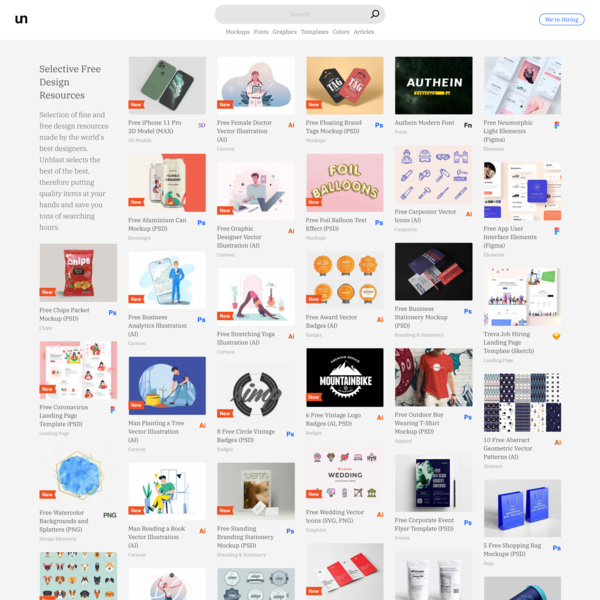 Selective Free Design Resources