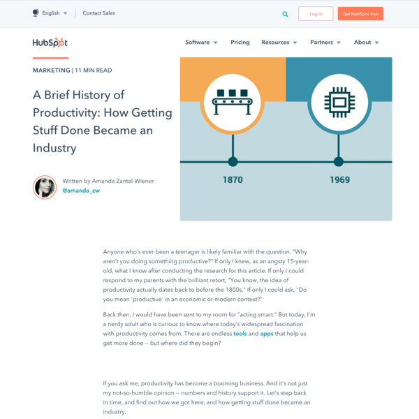 A Brief History of Productivity: How Getting Stuff Done Became an Industry