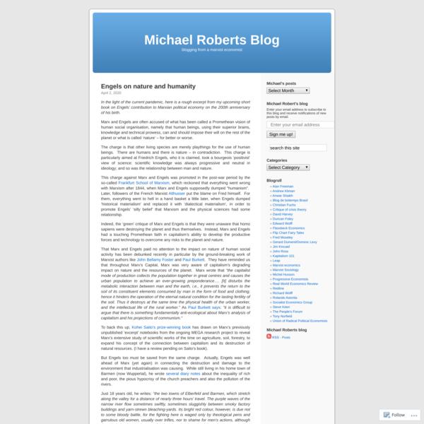 Michael Roberts Blog