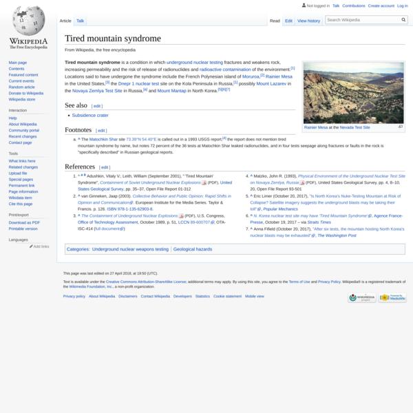 Tired mountain syndrome - Wikipedia