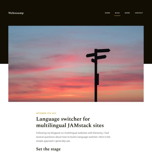 Language switcher for multilingual JAMstack sites