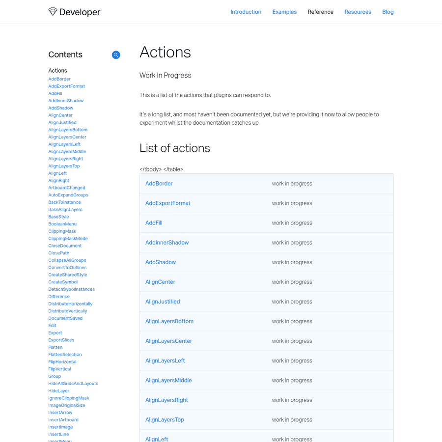 It's a long list, and most haven't been documented yet, but we're providing it now to allow people to experiment whilst the documentation catches up.