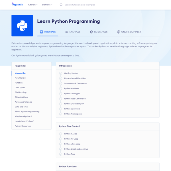 Learn Python Programming   Programiz