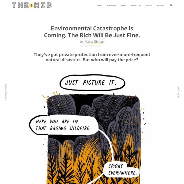 Environmental Catastrophe is Coming. The Rich Will Be Just Fine. | The Nib