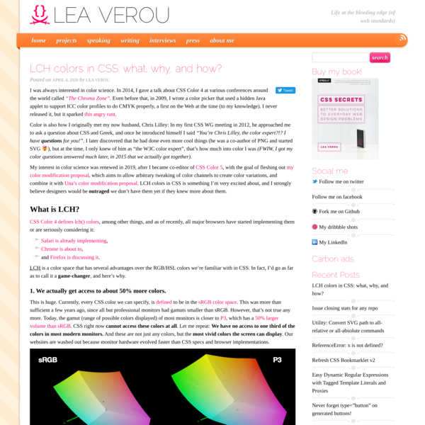 LCH colors in CSS: what, why, and how? | Lea Verou