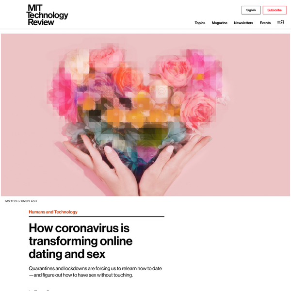 How coronavirus is transforming online dating and sex