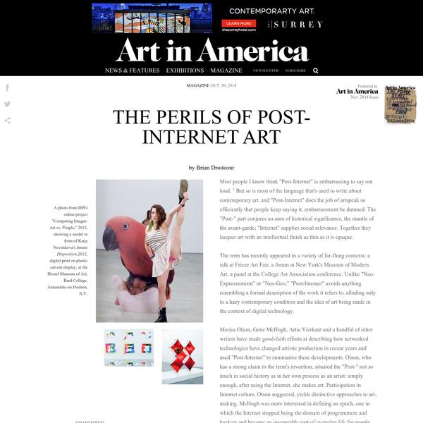 The Perils of Post-Internet Art