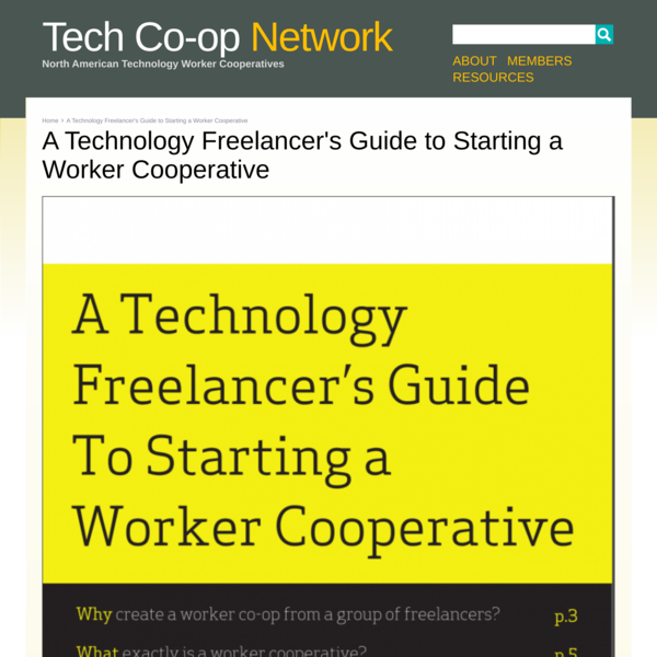 A Technology Freelancer's Guide to Starting a Worker Cooperative | Tech Co-op Network