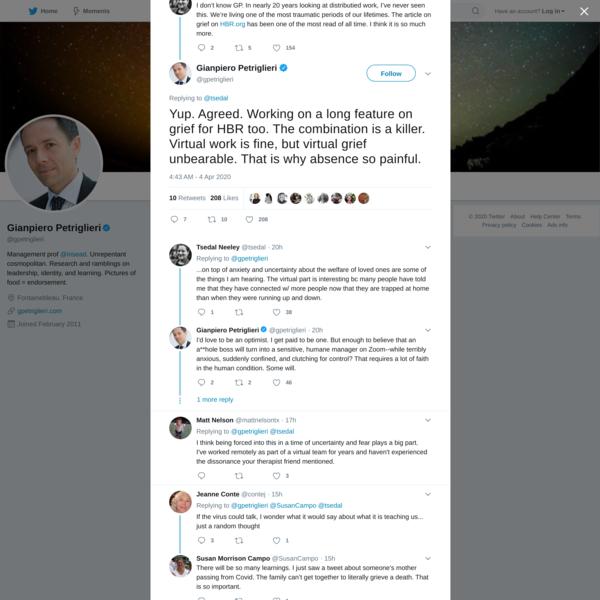 Gianpiero Petriglieri on Twitter