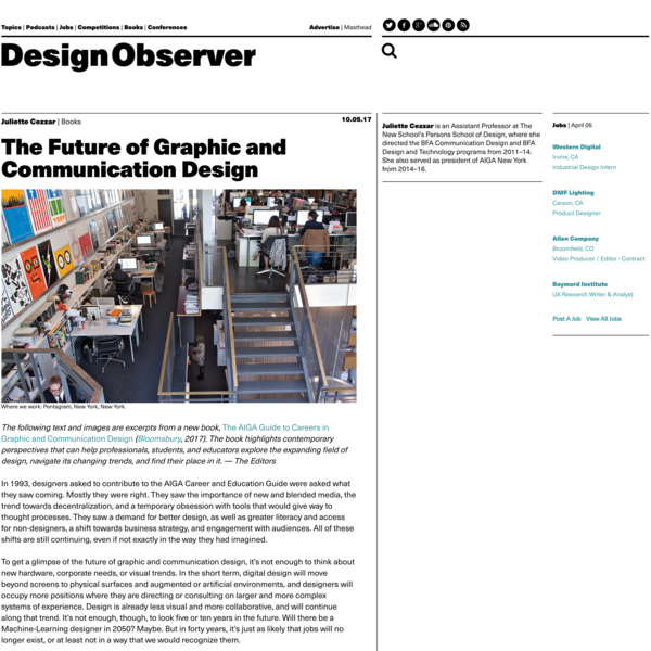 The Future of Graphic and Communication Design