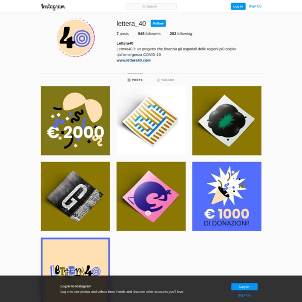 Lettera40 (@lettera_40) profile on Instagram • 7 posts