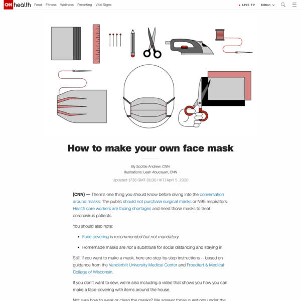 How to make your own face mask