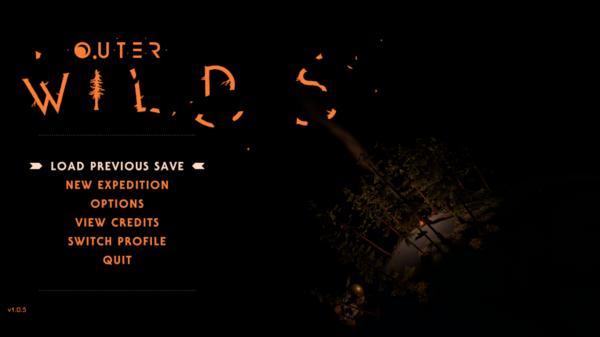 Outer Wilds - Main Menu
